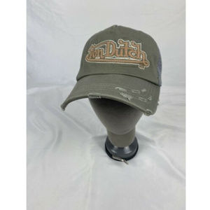 Von Dutch Snapback Cap Denim Gray Trucker Hat